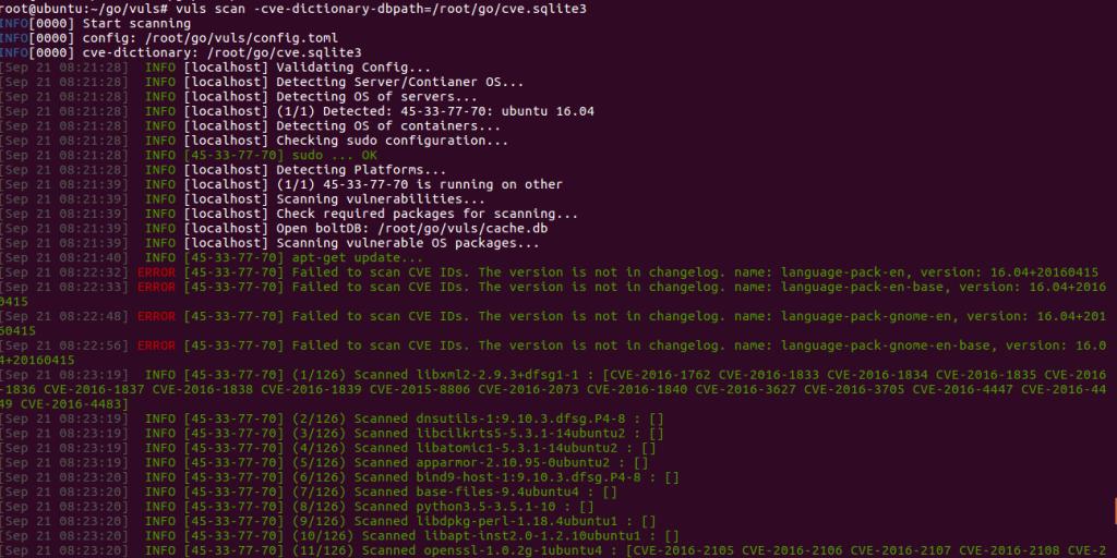 Как установить и настроить Vuls Vulnerability Scanner в Linux