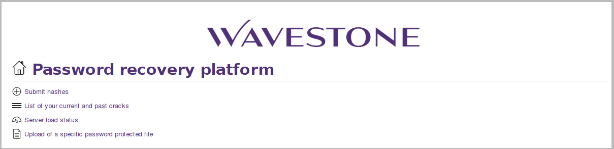 wavecrack – веб-интерфейс Wavestone для взлома пароля с помощью hashcat