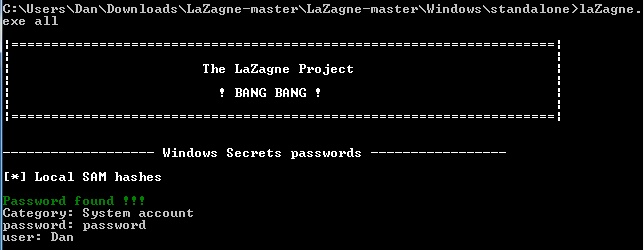 LaZagne — средство восстановления паролей для Windows и Linux