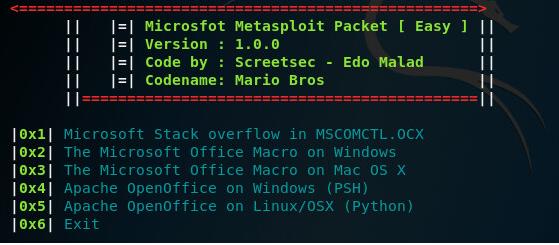 Microsploit (Office Exploitation Tool)
