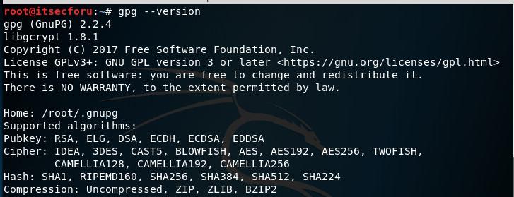 Как зашифровать / расшифровать файл в Linux с помощью gpg (Kali Linux)
