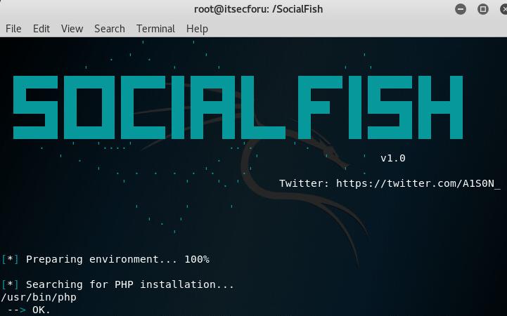 SocialFish –  фишинговый инструмент с интегрированным Ngrok