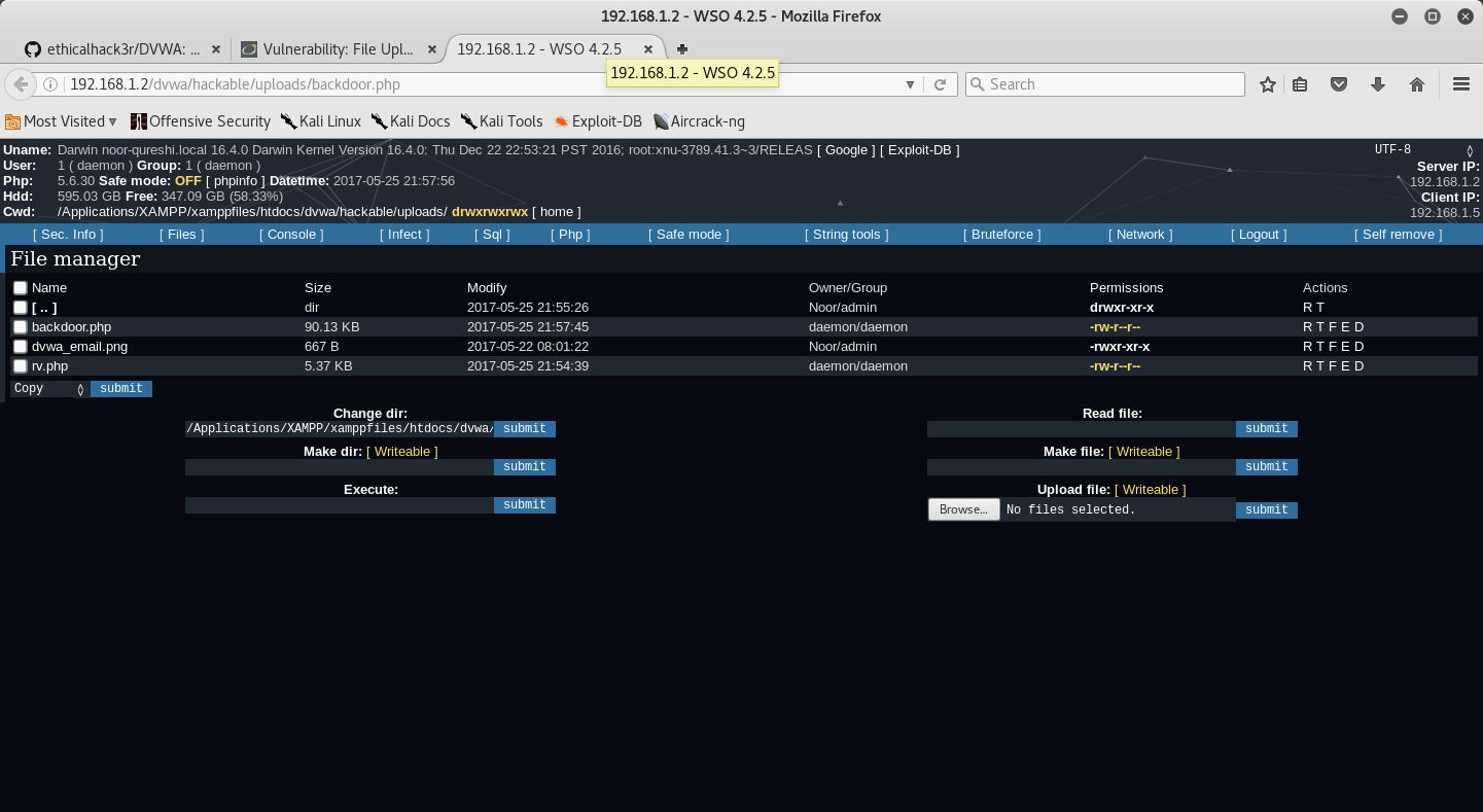 DVWA – Уязвимое веб-приложение
