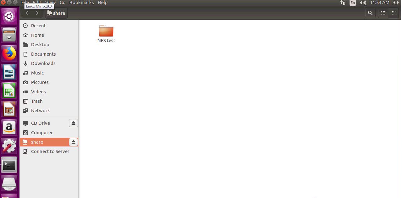 Как настроить общий доступ к NFS на LinuxMint 18.3