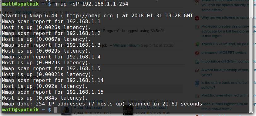 Как установить Nmap 7.01 и использовать его в Linux Mint 18.3