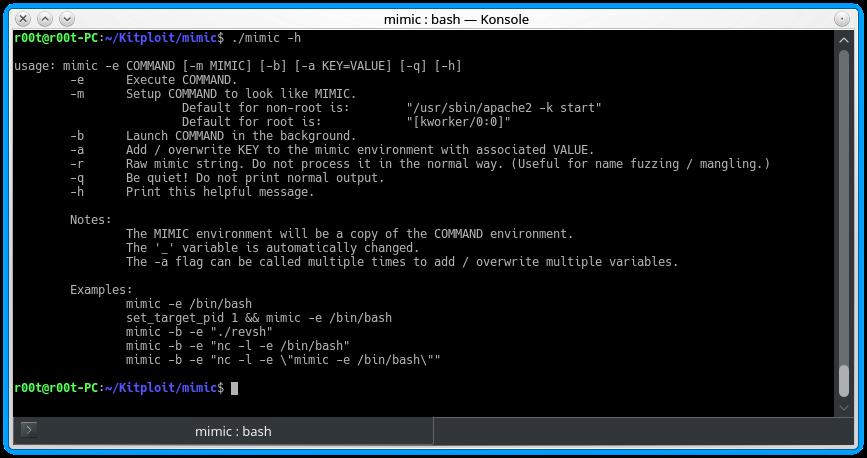 Mimic — инструмент для скрытого исполнения в Linux