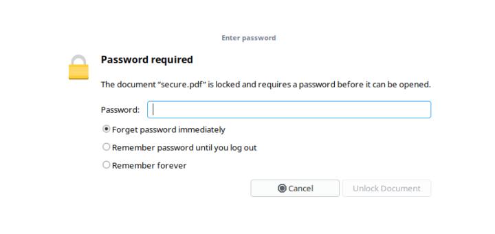 Как удалить пароль из файла PDF в Linux