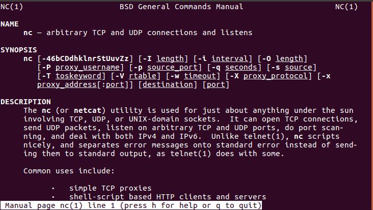 Как установить и использовать команду netcat в Linux