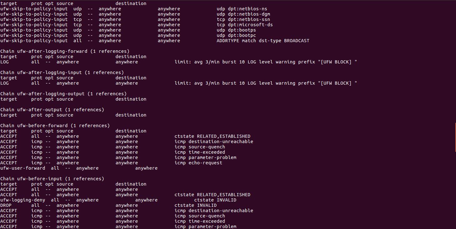 Как добавить комментарии к правилам iptables в Linux