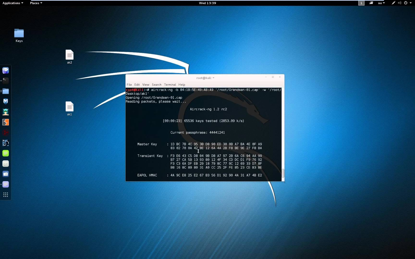 Создайте дамп WiFi IVS с помощью makeivs-ng на Kali Linux