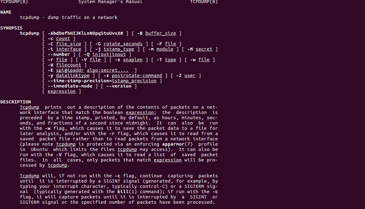 Как захватить сетевые пакеты и сохранить их в файл с помощью tcpdump
