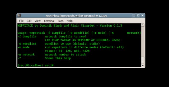 WepAttack — WLAN 802.11 инструмент для взлома ключа Wep