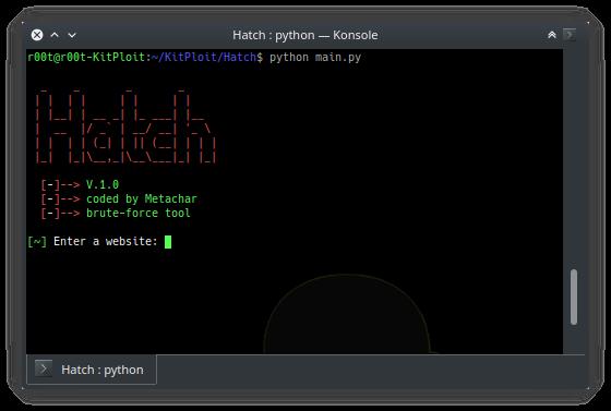 Hatch  — инструмент для брутфорса большинства сайтов
