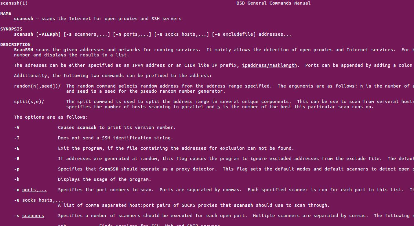 ScanSSH – быстрый сканер SSH серверов и прокси
