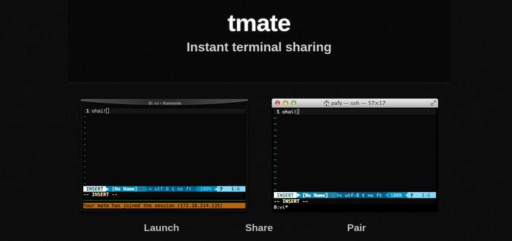 Tmate — безопасный обмен сеансом SSH-терминала с пользователями Linux
