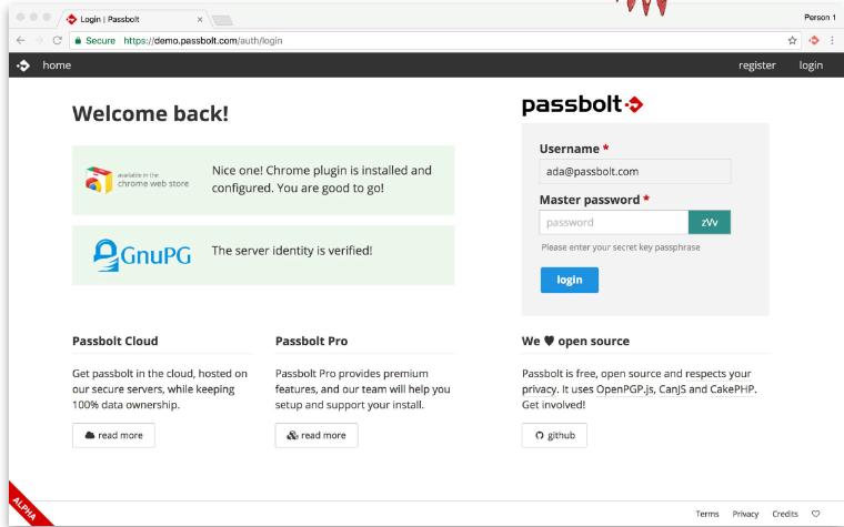 Как установить сетевой Менеджер паролей Passbolt на Ubuntu 18.04