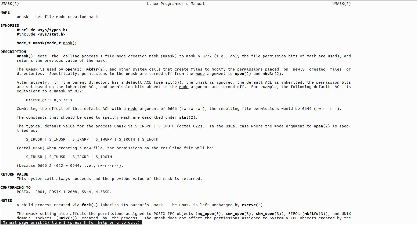 👺 Linux команда umask  с примерами, числовыми и символическими представлениями