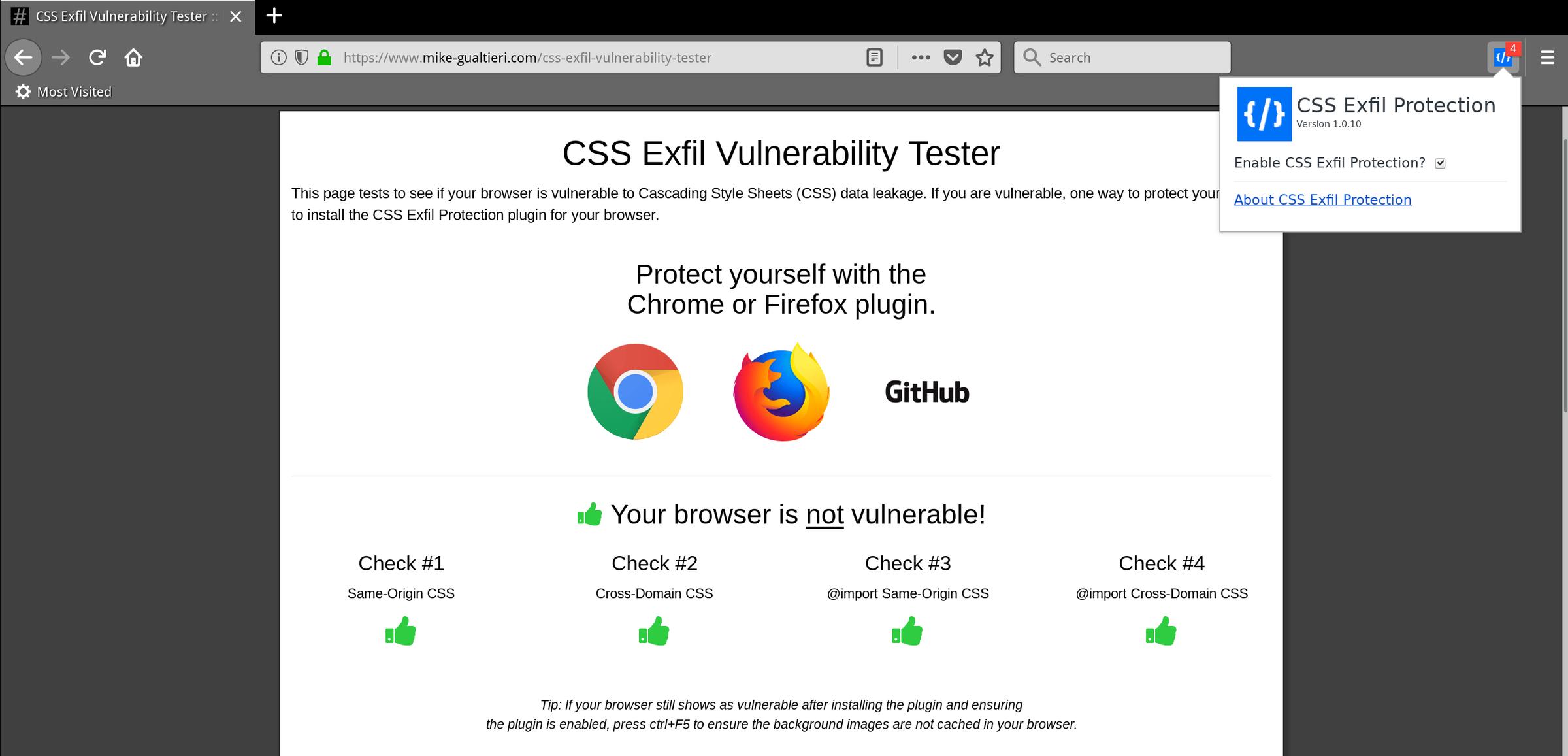 🦁 Расширение браузера CSS Exfil Protection предлагает защиту от атак с уязвимостью CSS Exfil