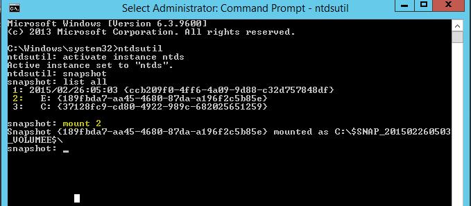 ✔️ Использование Ntdsutil для управления Active Directory