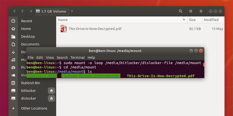 🥐  Как получить доступ к разделу Windows, зашифрованному с помощью Bitlocker, из Linux