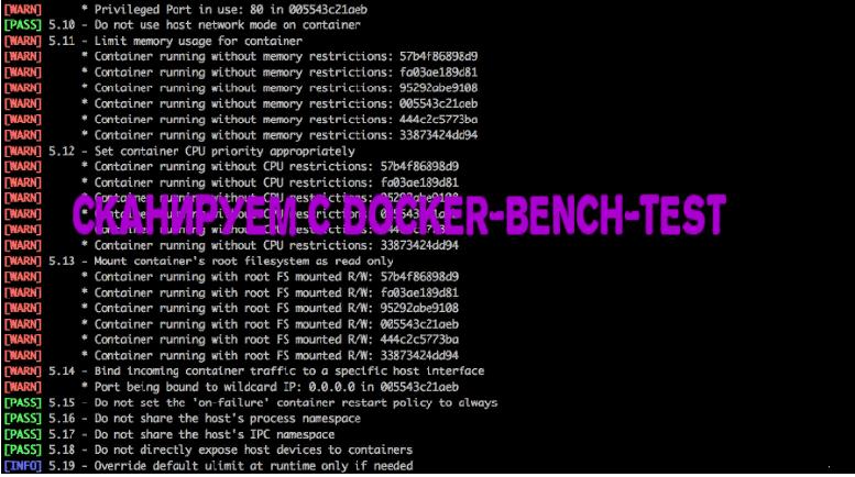 🐝 Как отсканировать ваш выпуск Docker с помощью docker-bench-test