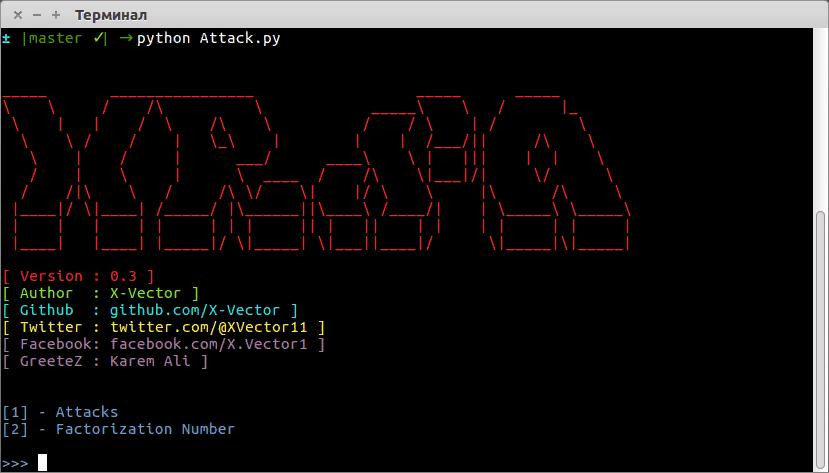 🇩🇲 X-RSA: инструмент для атаки RSA