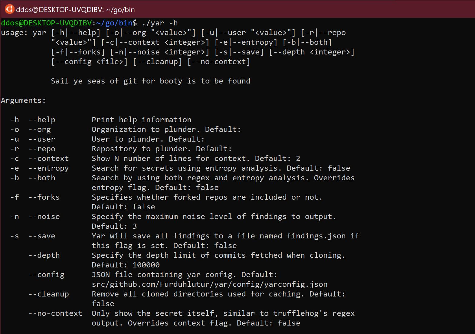 🔎 yar: инструмент OSINT для разведки репозиториев / пользователей / организаций на Github