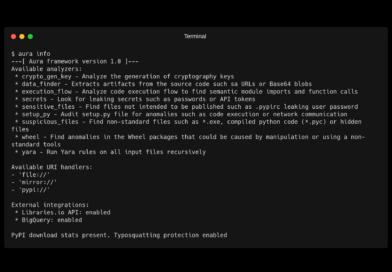 📦 Aura: Аудит безопасности пакетов