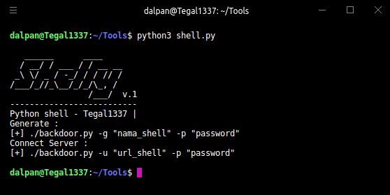 🚪 Shelly — простой бэкдор-менеджер на Python (на основе Weevely)
