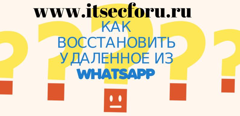 ✉️ Как получить доступ к удаленным беседам в WhatsApp