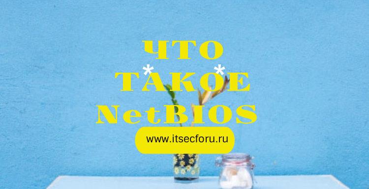 🖧  Что такое NetBIOS (Network Basic Input/Output System)?