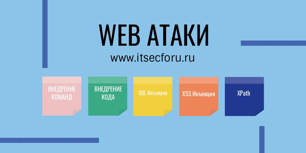 💉  9 популярных типов атак на веб-приложения