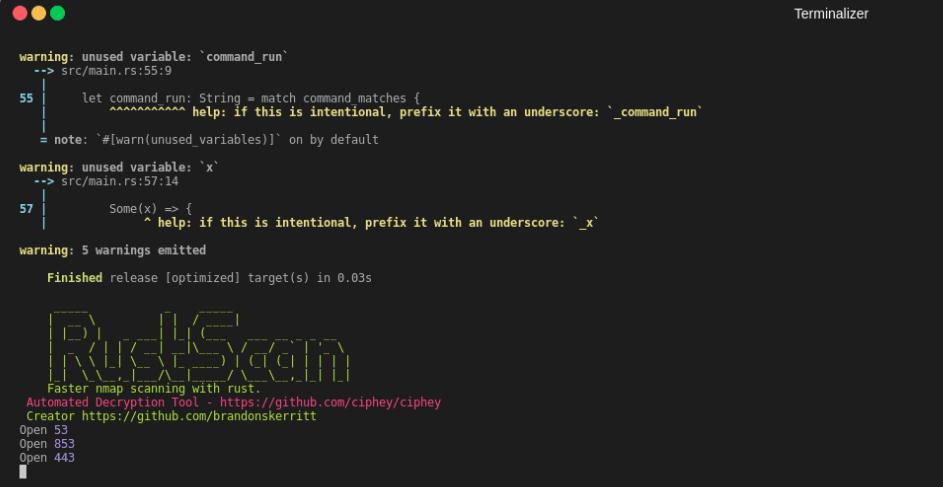 👀 RustScan: как быстро найти все открытые порты с помощью