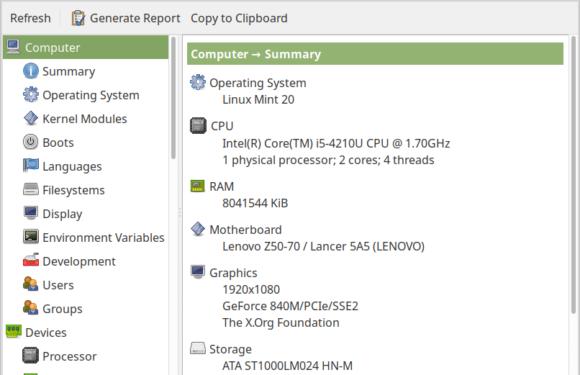 🔩 HardInfo — проверка информации об оборудовании на Linux