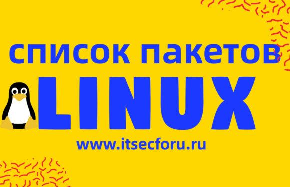 🐧 Как вывести список установленных пакетов на Linux