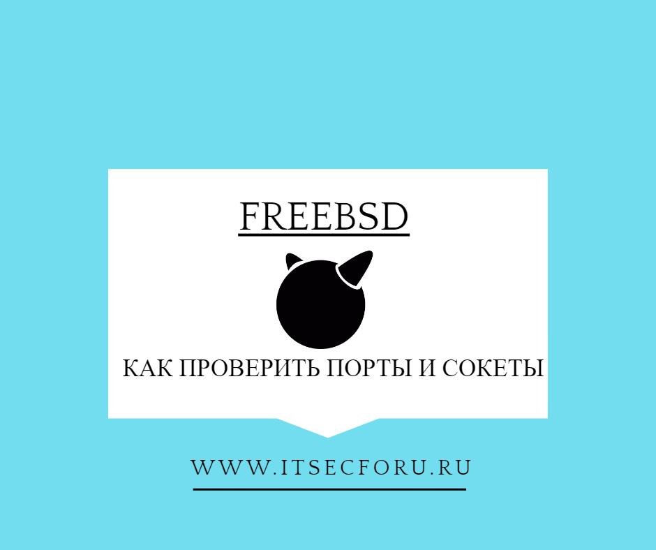 🖧 Проверка открытых портов на FreeBSD